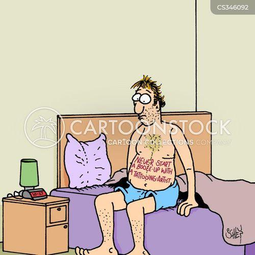body artist cartoon