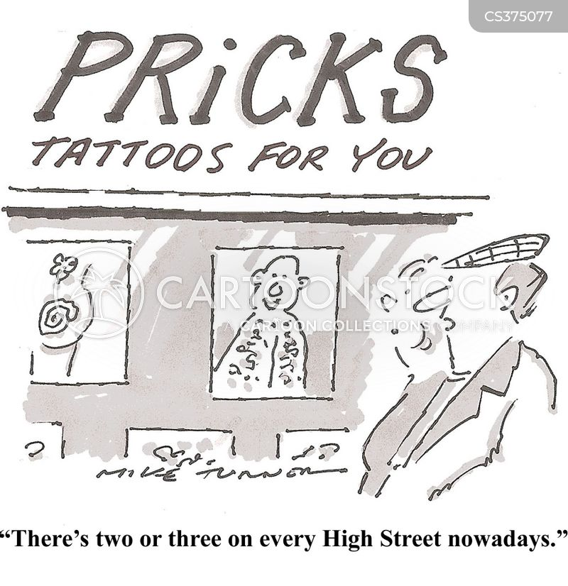 tattoo stores cartoon