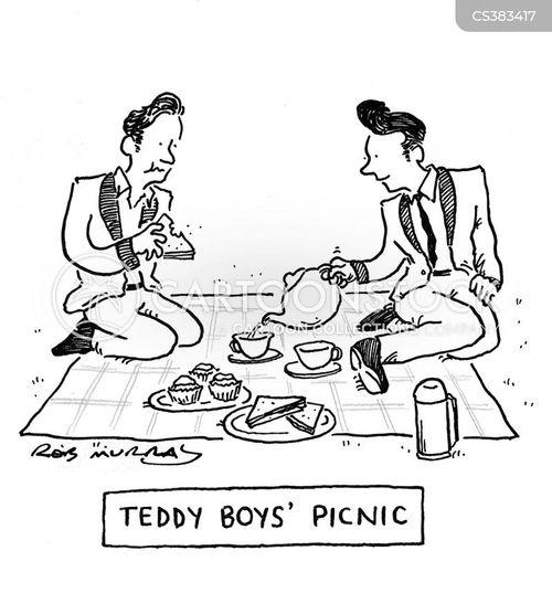 teddy boy cartoon