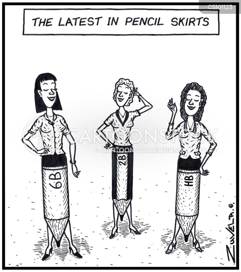 tight skirts cartoon