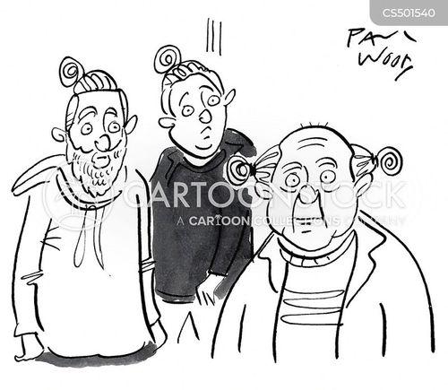 top-knot cartoon