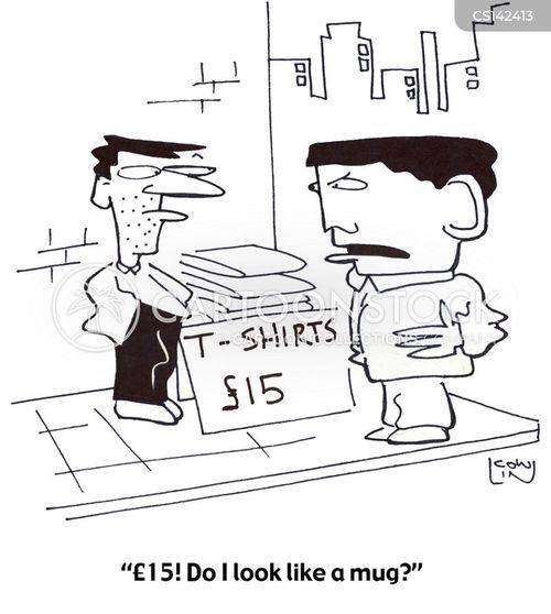 market stalls cartoon