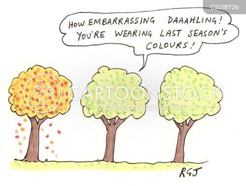 autumn color cartoon