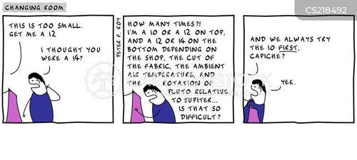 vanity sizing cartoon