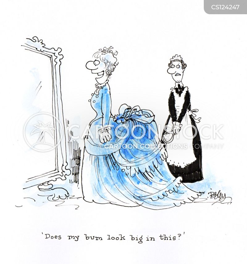 victorian fashions cartoon