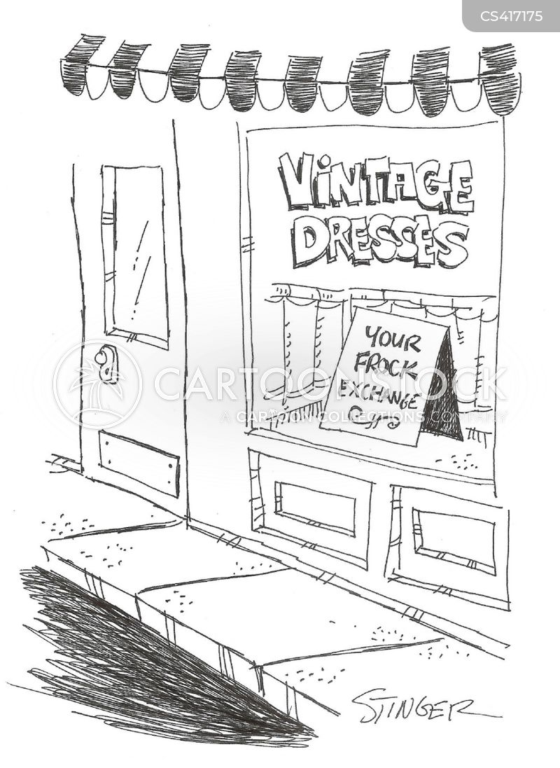 vintage stores cartoon