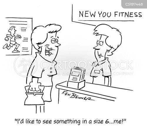 fitness plan cartoon