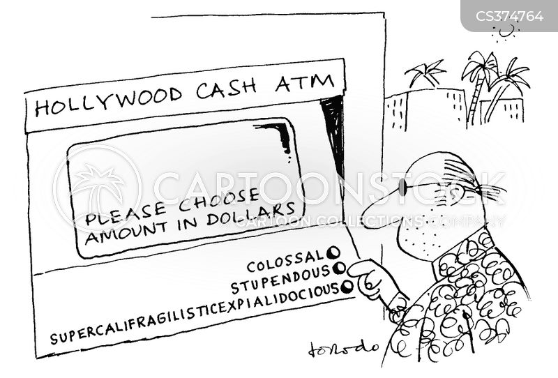 taking out money withdraw money cartoon