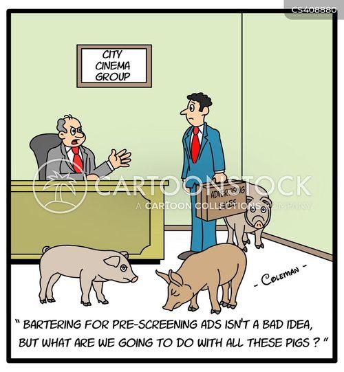 bartered cartoon