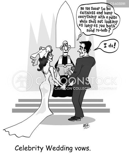 celebrity marriages cartoon