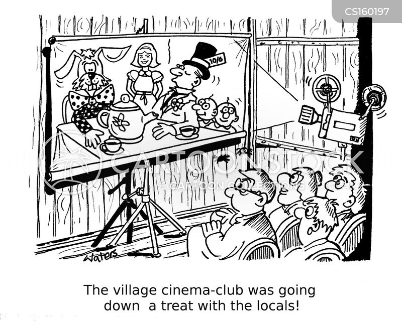 movie lover cartoon