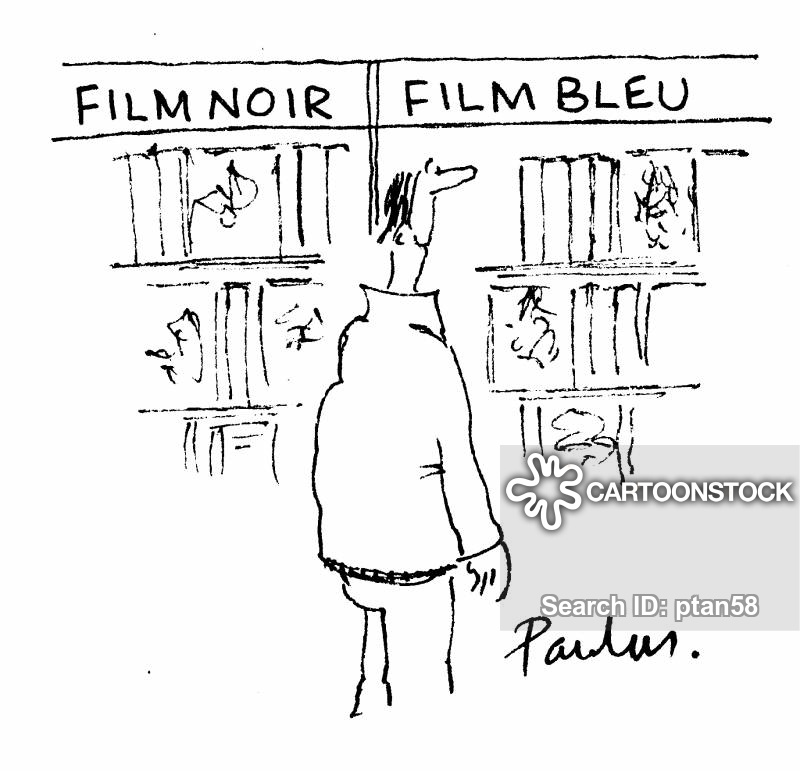 film bleu cartoon