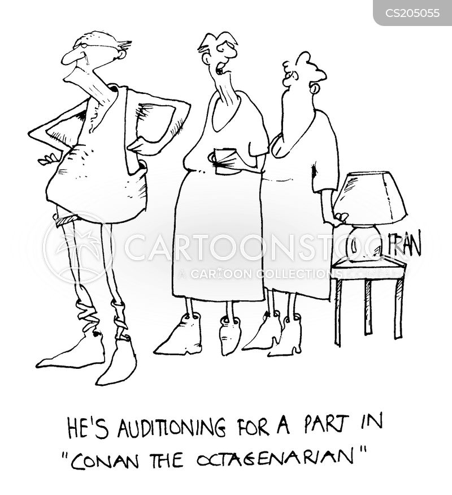 auditioning cartoon