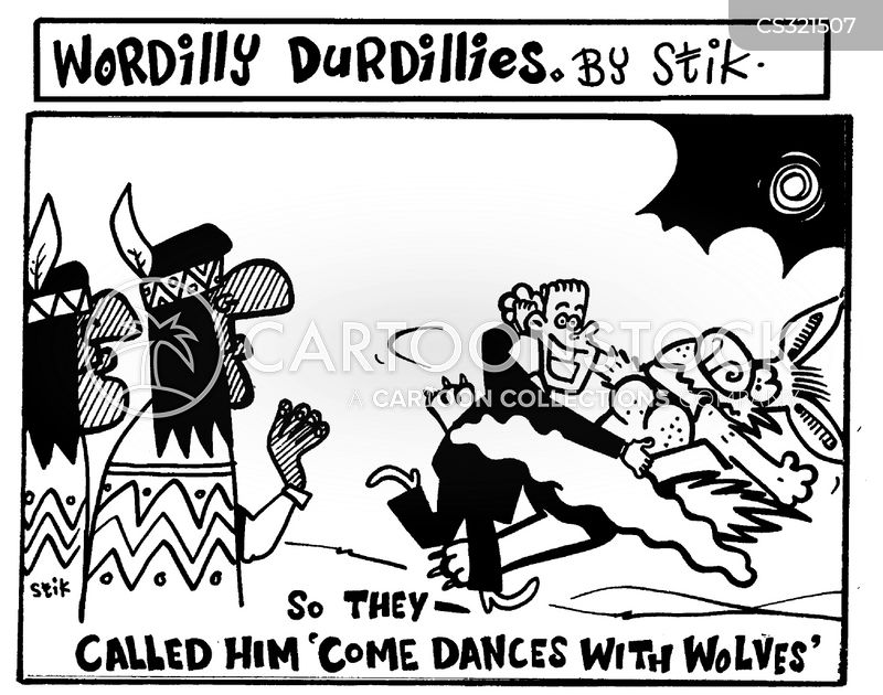 dances with wolves cartoon