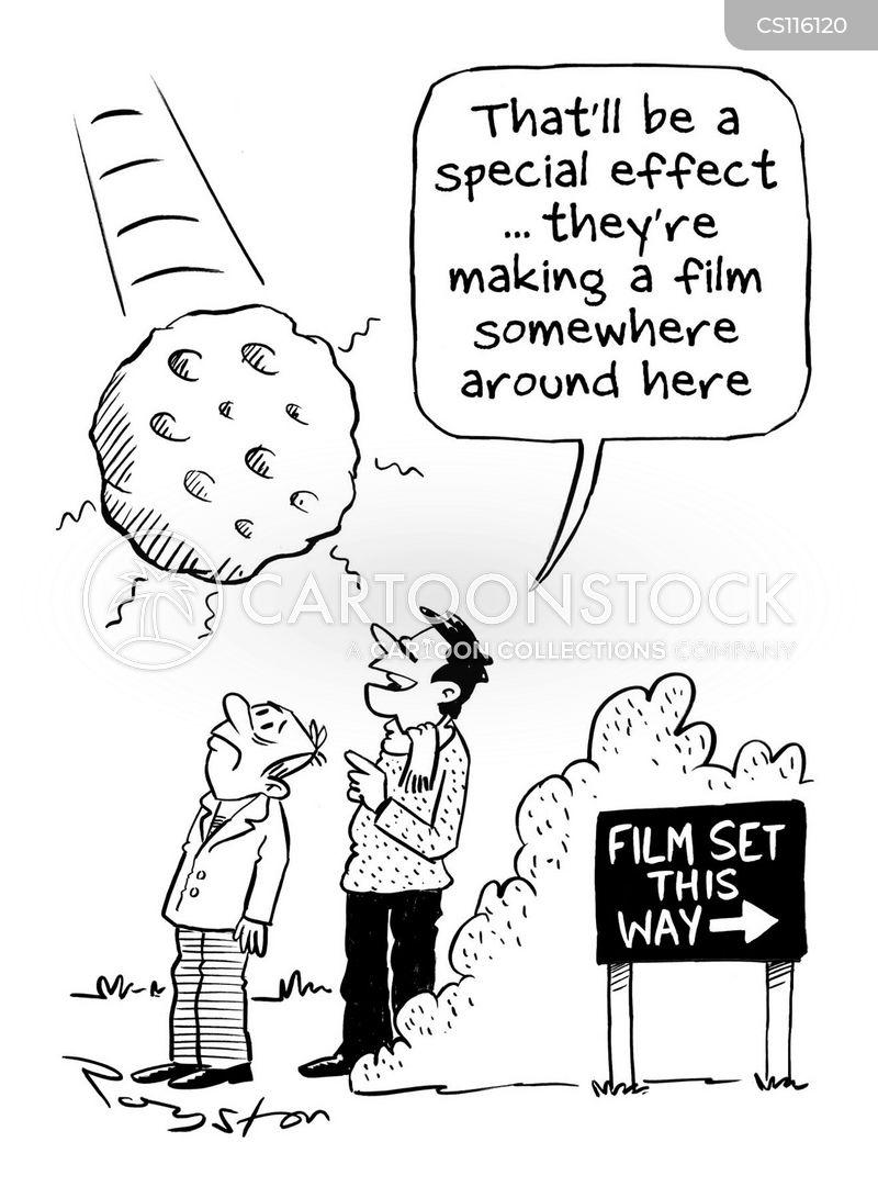 film sets cartoon