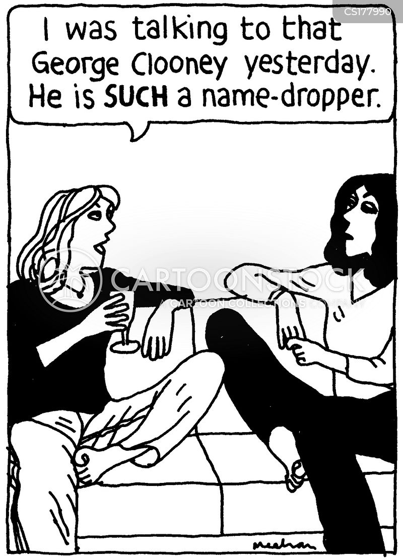 name-dropper cartoon