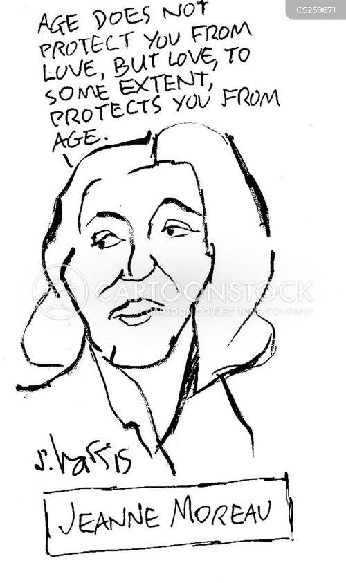 french actress cartoon
