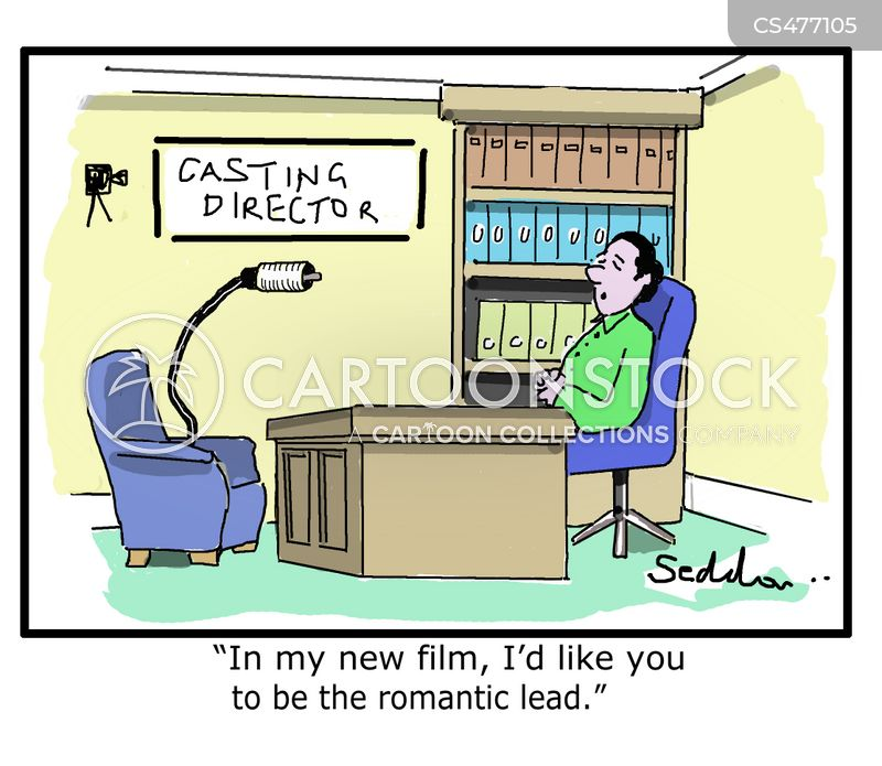 casting director cartoon
