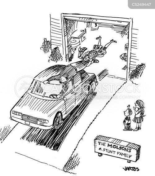 stuntperson cartoon