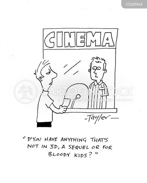 ticket booth cartoon