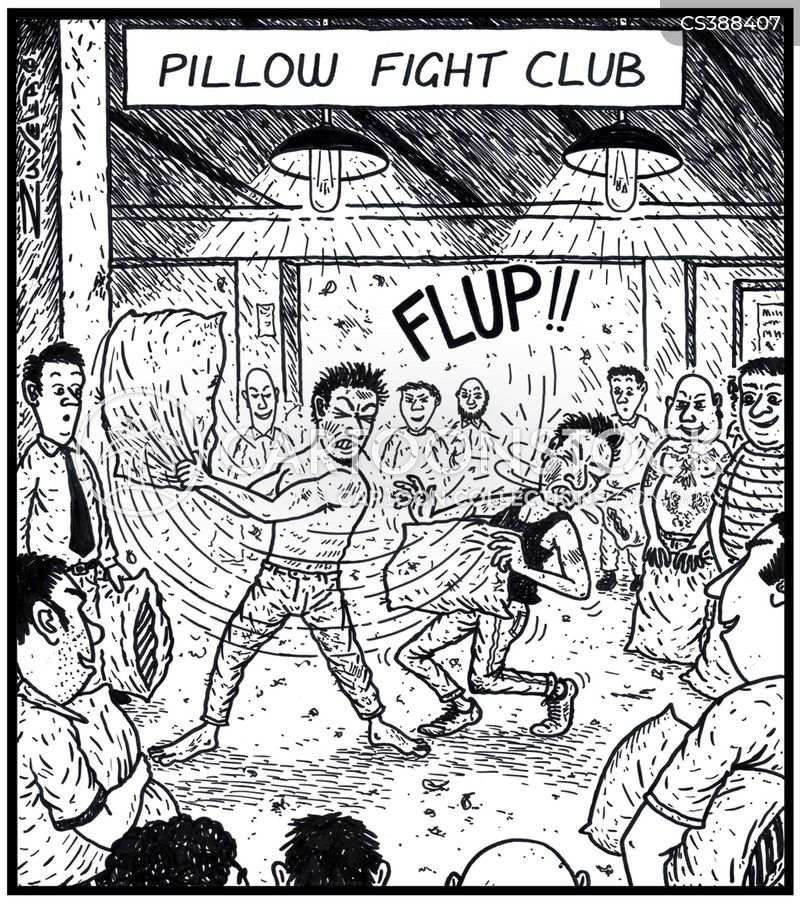 pillow fight cartoon