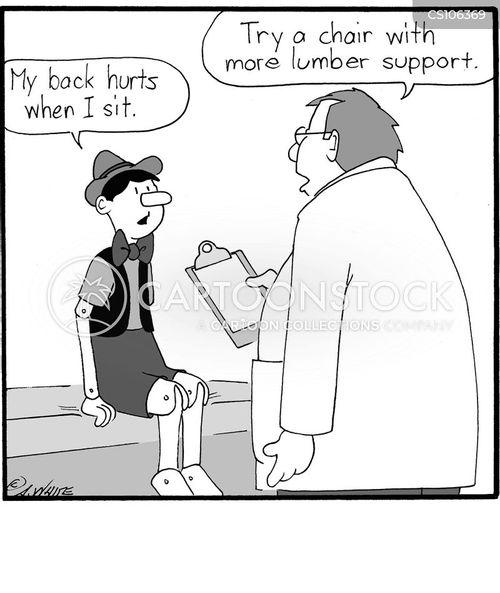 back injuries cartoon