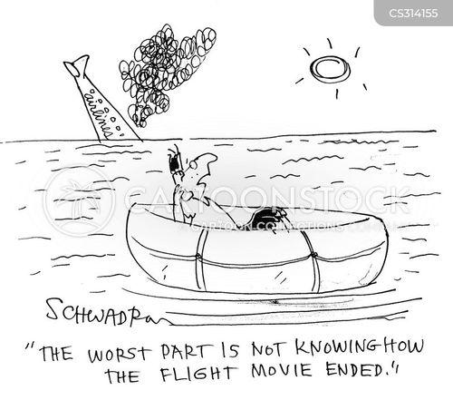 in-flight cartoon