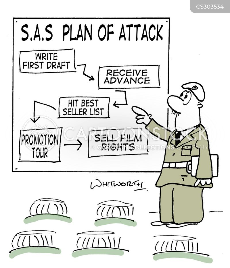 plan of attack cartoon
