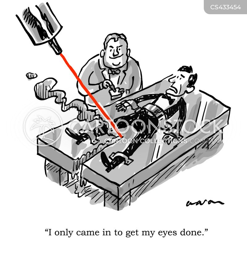 eye surgeons cartoon