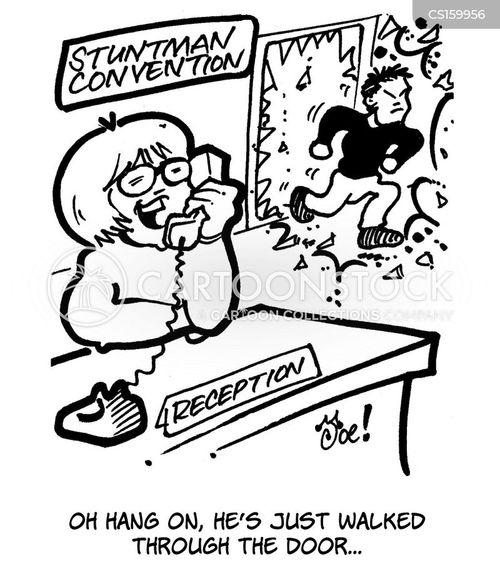 stunt performer cartoon