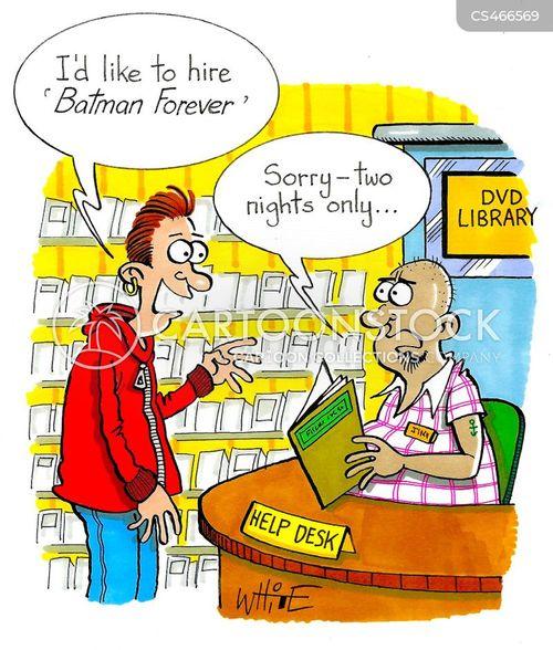 video library cartoon