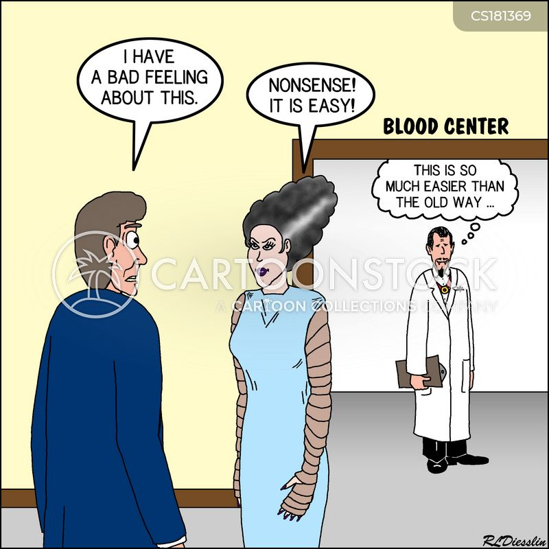 blood donors cartoon