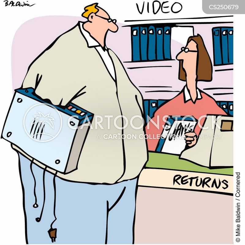 video payer cartoon