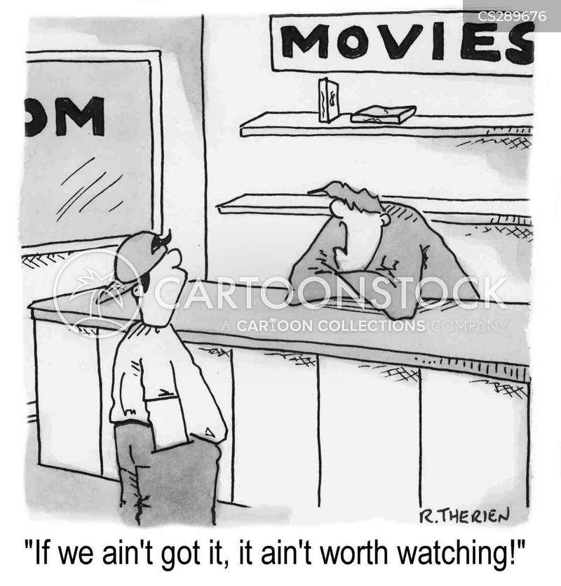 video shop cartoon