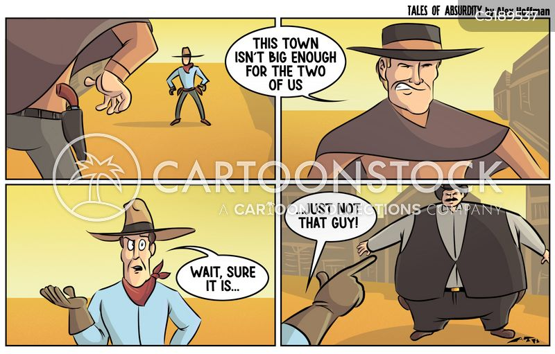 shoot-out cartoon