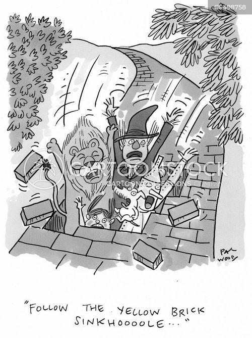 sinkhole cartoon