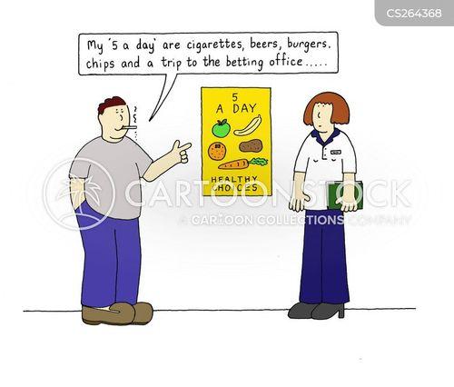 betting office cartoon
