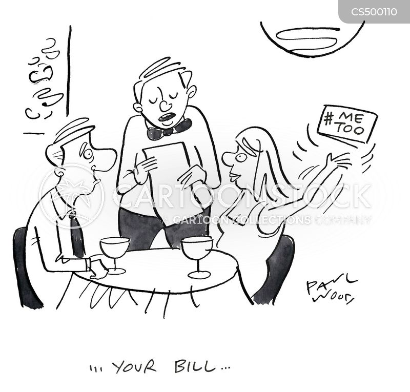 restaurant cheque cartoon