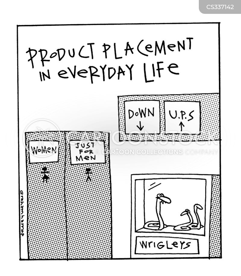 product placements cartoon