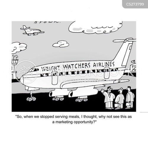 in-flight meals cartoon