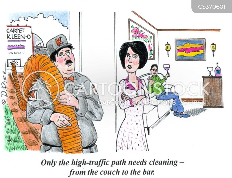 carpet cleaning cartoon