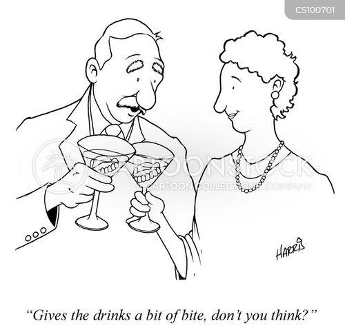 cocktail glasses cartoon