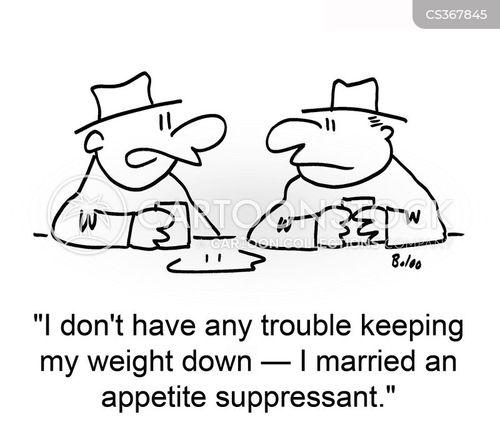 appetite suppressant cartoon