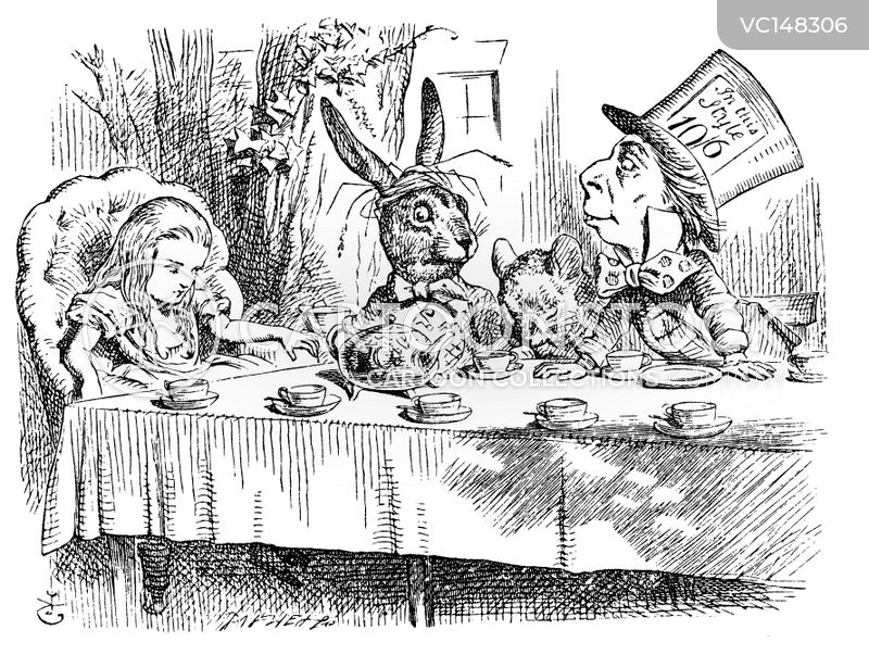 Mad Hatters Tea Party cartoons, Mad Hatters Tea Party cartoon, funny, Mad Hatters Tea Party picture, Mad Hatters Tea Party pictures, Mad Hatters Tea Party image, Mad Hatters Tea Party images, Mad Hatters Tea Party illustration, Mad Hatters Tea Party illustrations