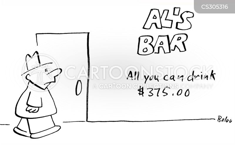 all you can drink cartoon