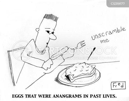 scrambled egg cartoon