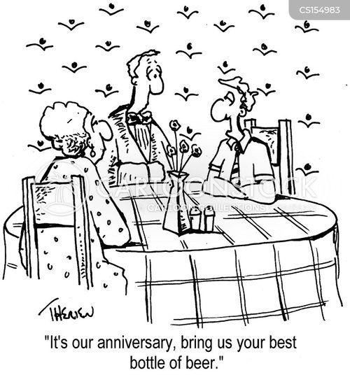wedding aniversary cartoon