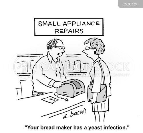 baking bread cartoon