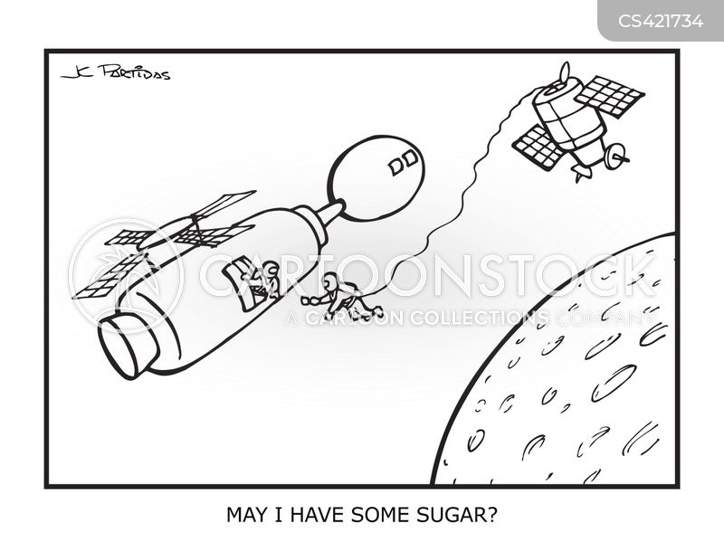 space stations cartoon