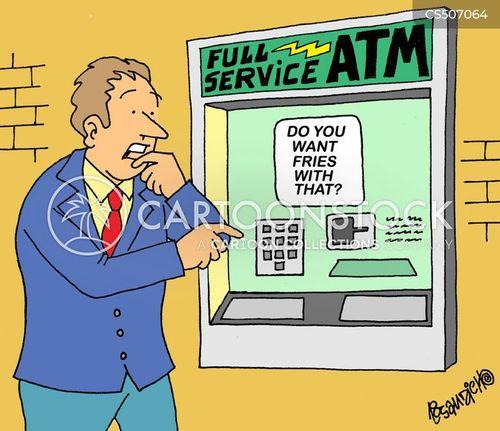 banking service cartoon